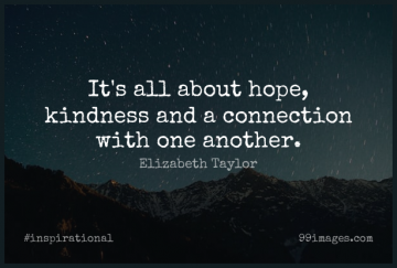 Short Inspirational Quote by Elizabeth Taylor about Life,Positive,Hope for WhatsApp DP / Status, Instagram Story, Facebook Post.