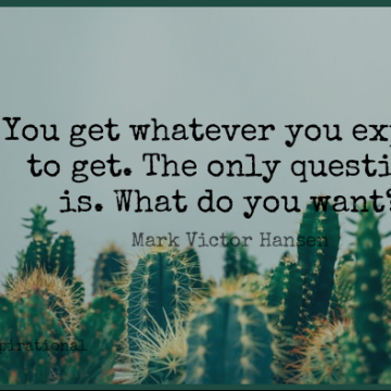 Short Inspirational Quote by Mark Victor Hansen about Expectations,Wish,Want for WhatsApp DP / Status, Instagram Story, Facebook Post.