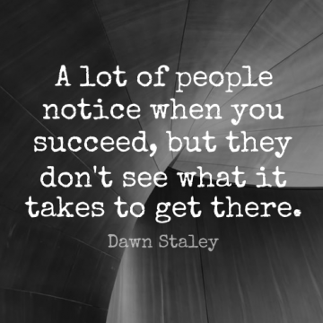 Short Inspirational Quote by Dawn Staley about Success,Softball,Sports for WhatsApp DP / Status, Instagram Story, Facebook Post.