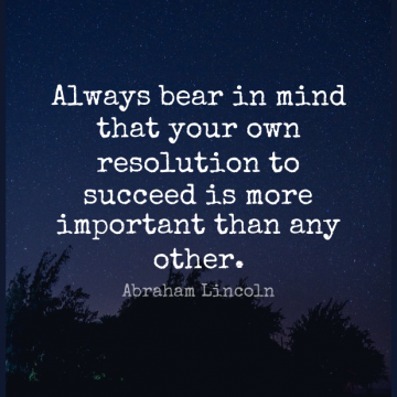 Short Inspirational Quote by Abraham Lincoln about Motivational,Positive,Success for WhatsApp DP / Status, Instagram Story, Facebook Post.