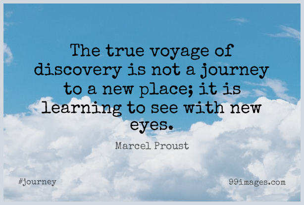 Short Journey Quote by Marcel Proust about Eye,Discovery,Voyages for WhatsApp DP / Status, Instagram Story, Facebook Post.
