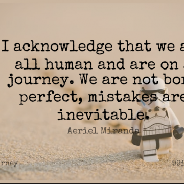 Short Journey Quote by Aeriel Miranda about Mistake,Perfect,Born for WhatsApp DP / Status, Instagram Story, Facebook Post.