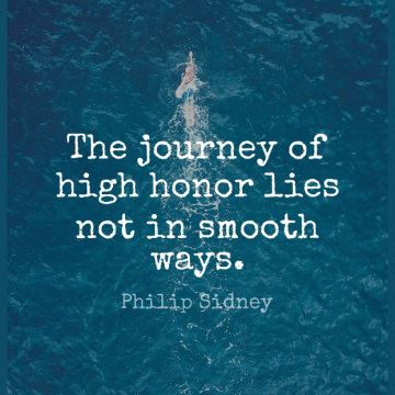 Short Journey Quote by Philip Sidney about Lying,Honor,Way for WhatsApp DP / Status, Instagram Story, Facebook Post.