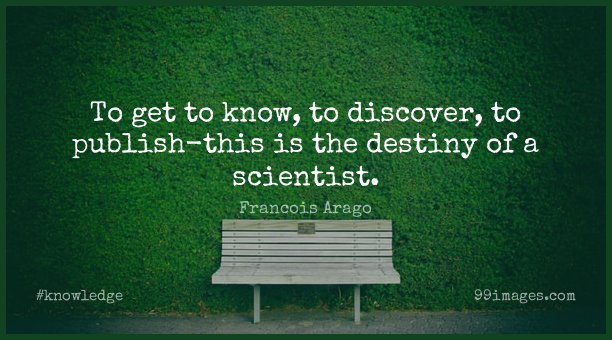Short Knowledge Quote by Francois Arago about Science,Destiny,Discovery for WhatsApp DP / Status, Instagram Story, Facebook Post.