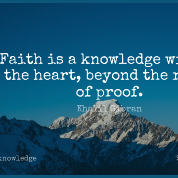 Short Knowledge Quote by Khalil Gibran about Faith,Stars,Heart for WhatsApp DP / Status, Instagram Story, Facebook Post.