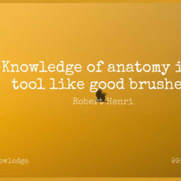 Short Knowledge Quote by Robert Henri about Tools,Brushes,Anatomy for WhatsApp DP / Status, Instagram Story, Facebook Post.