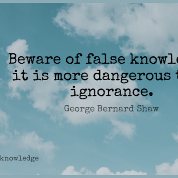 Short Knowledge Quote by George Bernard Shaw about Ignorance,Hunting,Stupidity for WhatsApp DP / Status, Instagram Story, Facebook Post.