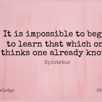 Short Knowledge Quote by Epictetus about Inspirational,Philosophical,Thinking for WhatsApp DP / Status, Instagram Story, Facebook Post.