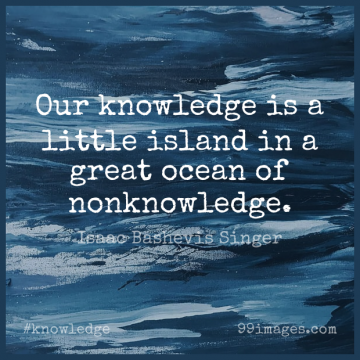 Short Knowledge Quote by Isaac Bashevis Singer about Beach,Ocean,Islands for WhatsApp DP / Status, Instagram Story, Facebook Post.
