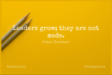 Short Leadership Quote by Peter Drucker about Leader,Made,Grows for WhatsApp DP / Status, Instagram Story, Facebook Post.