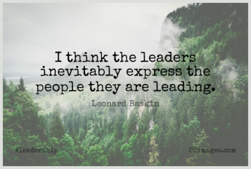 Short Leadership Quote by Leonard Baskin about Thinking,People,Leader for WhatsApp DP / Status, Instagram Story, Facebook Post.