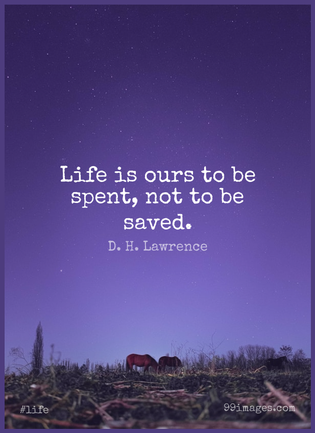 Short Life Quote by D. H. Lawrence about Positive,Literature,Saved for WhatsApp DP / Status, Instagram Story, Facebook Post. (503557) - Life Quotes