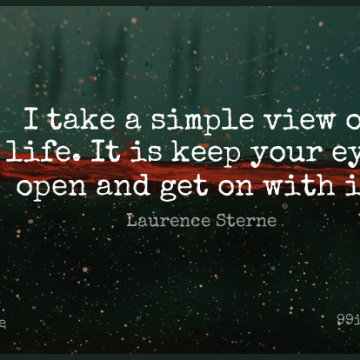 Short Life Quote by Laurence Sterne about Eye,Simple,Views for WhatsApp DP / Status, Instagram Story, Facebook Post.