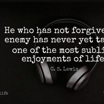 Short Life Quote by C. S. Lewis about Forgiveness,Sublime,Forgiving for WhatsApp DP / Status, Instagram Story, Facebook Post.