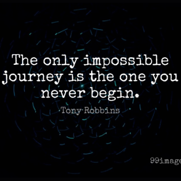 Short Life Quote by Tony Robbins about Motivation,Journey,Impossible for WhatsApp DP / Status, Instagram Story, Facebook Post.