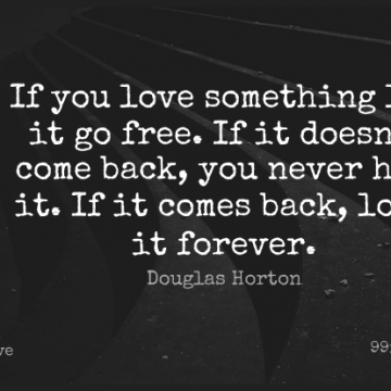 Short Love Quote by Douglas Horton about Sad,Forever With You,Let It Go for WhatsApp DP / Status, Instagram Story, Facebook Post.
