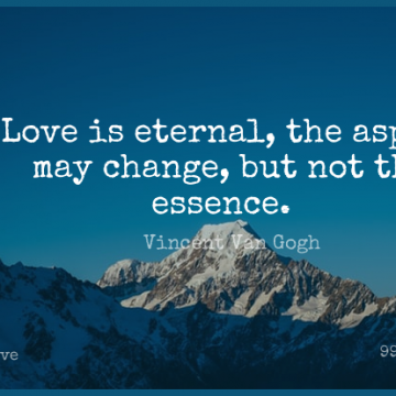 Short Love Quote by Vincent Van Gogh about Sympathy,Wedding Anniversary,Essence for WhatsApp DP / Status, Instagram Story, Facebook Post.