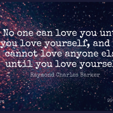 Short Love Quote by Raymond Charles Barker about Self Esteem,Self Respect,Self Acceptance for WhatsApp DP / Status, Instagram Story, Facebook Post.