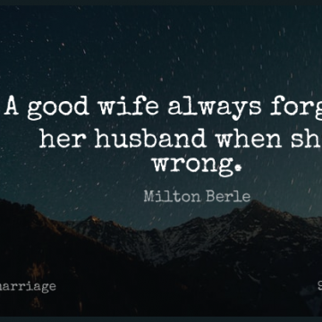 Short Marriage Quote by Milton Berle about Love,Husband,Wife for WhatsApp DP / Status, Instagram Story, Facebook Post.