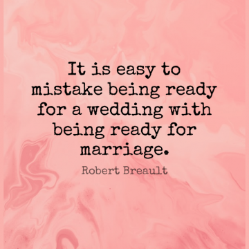 Short Marriage Quote by Robert Breault about Mistake,Easy,Ready for WhatsApp DP / Status, Instagram Story, Facebook Post.