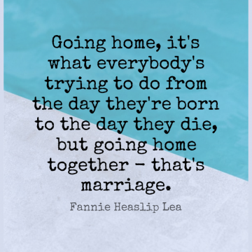 Short Marriage Quote by Fannie Heaslip Lea about Home,Trying,Together for WhatsApp DP / Status, Instagram Story, Facebook Post.
