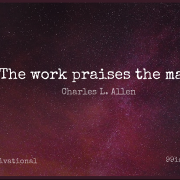 Short Motivational Quote by Charles L. Allen about Men,Praise,Gaelic for WhatsApp DP / Status, Instagram Story, Facebook Post.