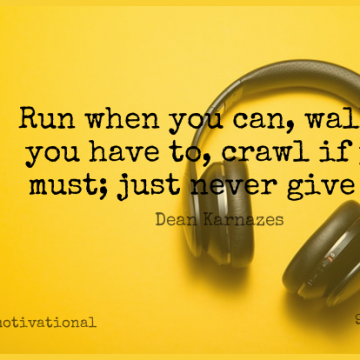 Short Motivational Quote by Dean Karnazes about Inspirational,Sports,Running for WhatsApp DP / Status, Instagram Story, Facebook Post.