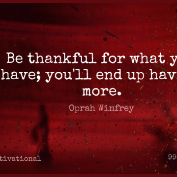 Short Motivational Quote by Oprah Winfrey about Inspirational,Thanksgiving,Thankful for WhatsApp DP / Status, Instagram Story, Facebook Post.