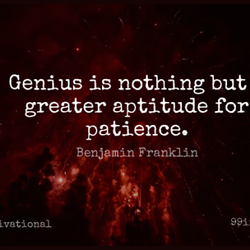 Short Motivational Quote by Benjamin Franklin about Inspirational,Life,Patience for WhatsApp DP / Status, Instagram Story, Facebook Post.