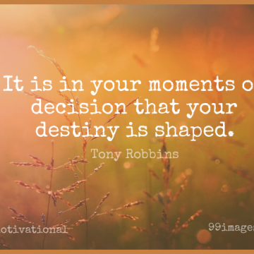 Short Motivational Quote by Tony Robbins about Inspirational,Life,Happiness for WhatsApp DP / Status, Instagram Story, Facebook Post.