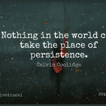 Short Motivational Quote by Calvin Coolidge about Wisdom,Perseverance,Determination for WhatsApp DP / Status, Instagram Story, Facebook Post.