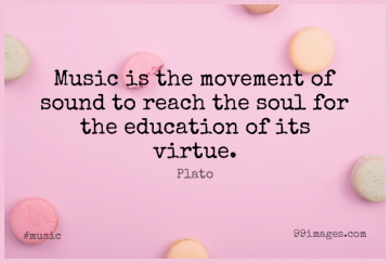 Short Music Quote by Plato about Plato,Soul,Sound for WhatsApp DP / Status, Instagram Story, Facebook Post.