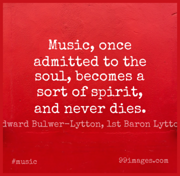 Short Music Quote by Edward Bulwer-Lytton, 1st Baron Lytton about Piano,Soul,Spirit for WhatsApp DP / Status, Instagram Story, Facebook Post.