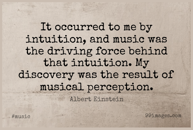 Short Music Quote by Albert Einstein about Discovery,Perception,Intuition for WhatsApp DP / Status, Instagram Story, Facebook Post.