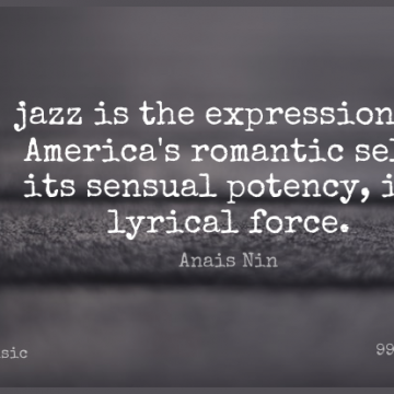 Short Music Quote by Anais Nin about Self,Expression,America for WhatsApp DP / Status, Instagram Story, Facebook Post.