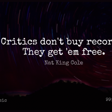 Short Music Quote by Nat King Cole about Ems,Records,Critics for WhatsApp DP / Status, Instagram Story, Facebook Post.