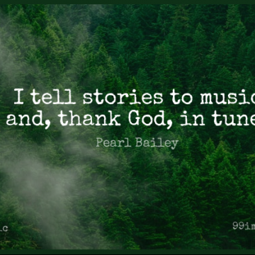 Short Music Quote by Pearl Bailey about Thank God,Tunes,Stories for WhatsApp DP / Status, Instagram Story, Facebook Post.