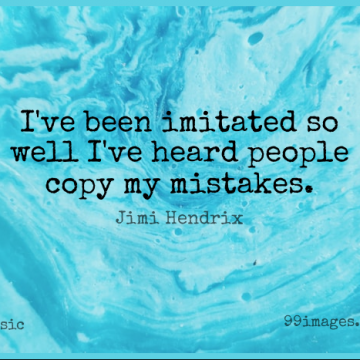Short Music Quote by Jimi Hendrix about Mistake,Guitar,People for WhatsApp DP / Status, Instagram Story, Facebook Post.