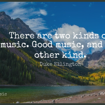 Short Music Quote by Duke Ellington about Two,Jazz,Kind for WhatsApp DP / Status, Instagram Story, Facebook Post.