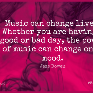 Short Music Quote by Jess Bowen about Life Changing,Bad Day,Mood for WhatsApp DP / Status, Instagram Story, Facebook Post.