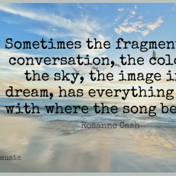 Short Music Quote by Rosanne Cash about Dream,Song,Color for WhatsApp DP / Status, Instagram Story, Facebook Post.