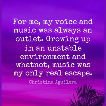 Short Music Quote by Christina Aguilera about Growing Up,Real,Voice for WhatsApp DP / Status, Instagram Story, Facebook Post.