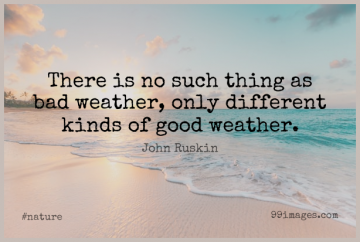 Short Nature Quote by John Ruskin about Change,Running,Rainy Day for WhatsApp DP / Status, Instagram Story, Facebook Post.