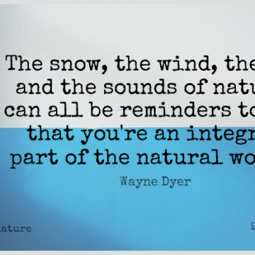 Short Nature Quote by Wayne Dyer about Inspirational,Wind,Snow for WhatsApp DP / Status, Instagram Story, Facebook Post.