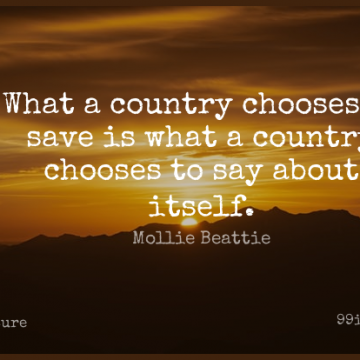 Short Nature Quote by Mollie Beattie about Country,Environmental,Wilderness for WhatsApp DP / Status, Instagram Story, Facebook Post.