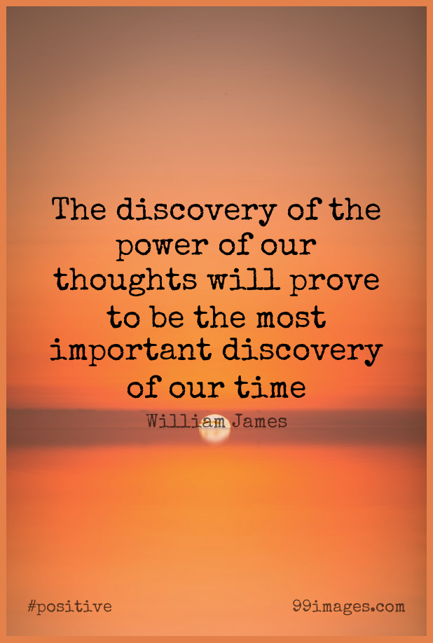 Short Positive Quote by William James about Discovery,Important,Prove for WhatsApp DP / Status, Instagram Story, Facebook Post.