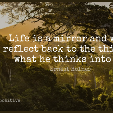 Short Positive Quote by Ernest Holmes about Love,Life,Change for WhatsApp DP / Status, Instagram Story, Facebook Post.
