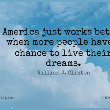 Short Positive Quote by William J. Clinton about Dream,America,People for WhatsApp DP / Status, Instagram Story, Facebook Post.