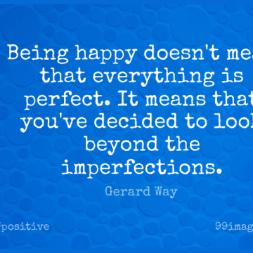 Short Positive Quote by Gerard Way about Inspirational,Life,Happiness for WhatsApp DP / Status, Instagram Story, Facebook Post.