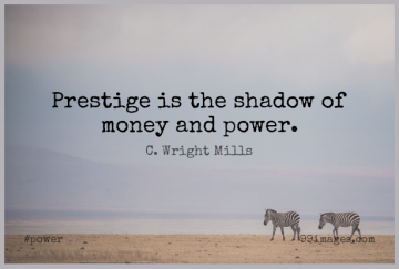 Short Power Quote by C. Wright Mills about Shadow,Prestige,Money And Power for WhatsApp DP / Status, Instagram Story, Facebook Post.